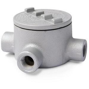 """Appleton GRT150 Conduit Outlet Box, Type GRT, (3) 1-1/2"""" Hubs, Malleable"""