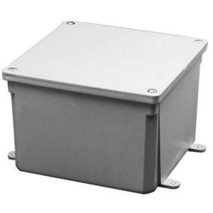 "Carlon E987R Enclosure, NEMA 4X, Screw Cover, 6"" x 6"" x 4"""