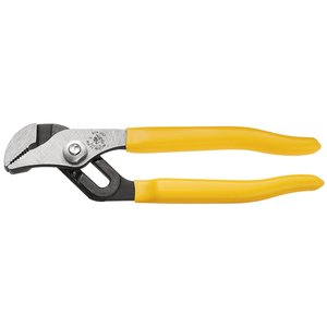 "Klein D502-10 Pump Pliers, 10"", Max Jaw Opening 1-3/4"", Plastic Yellow Handle"