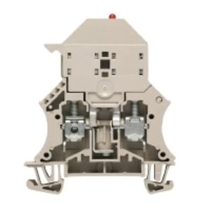 Weidmuller 1012300000 Terminal Block, Dark Beige, W-Series, Fused, 6mm, Screw Connection