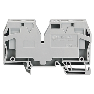 Allen-Bradley 1492-L16 Terminal Block, 65A, 600V AC/DC, Gray, 14 - 4AWG, 16mm
