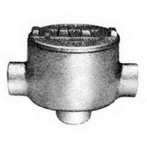 "Appleton GRCA75 Conduit Outlet Box, Type GRC, (3) 3/4"" Hubs, Malleable Iron"