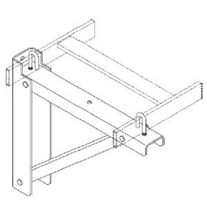 "Chatsworth 11746-718 Triangular Support Bracket, For 18"" Width, Black"
