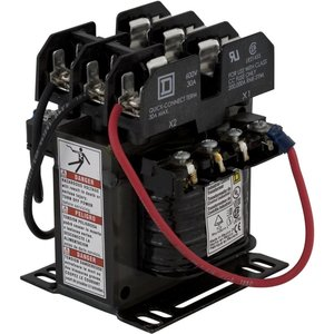Square D 9070TF100D52 Control Transformer, 100VA, 380/400/415x12/24, Type TF, 1PH, Open