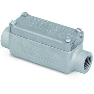 "Appleton ERC50 Explosionproof Conduit Body, Type: C, 1/2"", Maleable Iron"