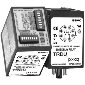 SSAC TRDU120A2 Timing Relay, 21 Function, 8-Pin, DPDT, 120VAC, 8 Ranges