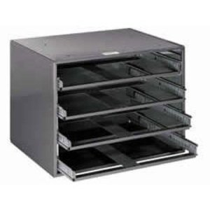 "Klein 54477 4-Box Slide Rack - HxWxD: 20""x15.75""x14.5"""