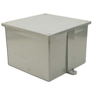 "Multiple 8X8X4-JCT-BOX-W/CVR Junction Box, 4X, Screw Cover, 8"" x 8"" x 4"", PVC/Gray"