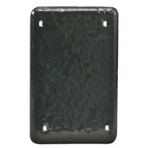 Plasti-Bond PBDS100G PVC Coated Aluminum Device Cover, 1-Gang, Blank