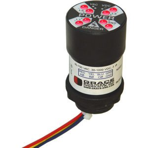 Grace Engineered Products R-3W Voltage Indicator, Flashing LED's, 40-750VAC, 30-1000VDC