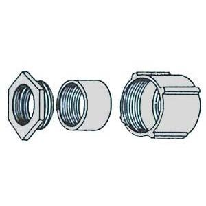 "Appleton EC-75 Rigid Three-Piece Coupling, 3/4"", Threaded, Malleable"