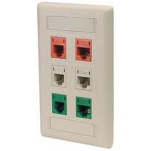 Hubbell-Premise IFP11OW Wallplate, 1-Port, 1-Gang, Keystone, Rear Load, Flush, Office White