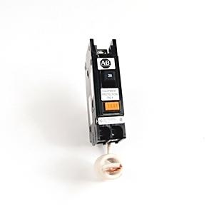 Allen-Bradley 1492-MCEA120 Breaker, 20A, 1P, 120VAC, Ground Fault Sensing, 30mA Sensitivity