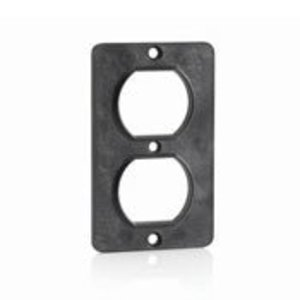 Leviton 3051-E Duplex Receptacle Coverplate, Black