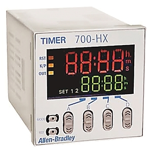 Allen-Bradley 700-HX86SU24 Timing Relay, Multi-Function, Digital, 8-Pin, 24VAC, 12-24VDC