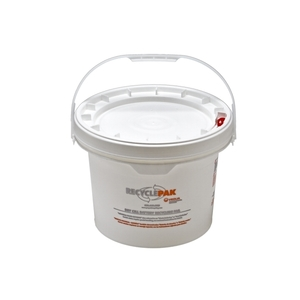 Veolia SUPPLY-041 Dry Cell Battery Recycling Pail, 3.5 Gallons