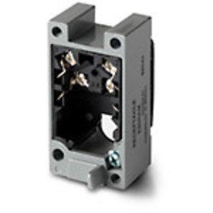 Eaton E50RBM Limit Switch Receptacle, Double Pole, Terminals