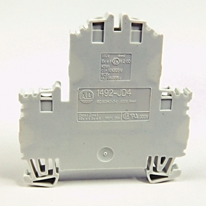 Allen-Bradley 1492-JD4-W Terminal Block, 35A, 600V AC/DC, 2 Level, 2 Circuit, White, 4mm