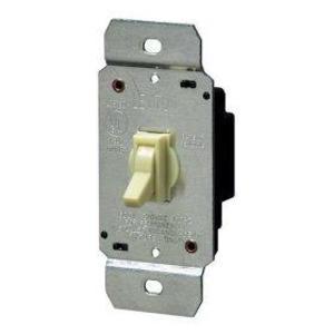 Leviton 6641-I Toggle Dimmer, 600W, Single-Pole, Leviton, Ivory