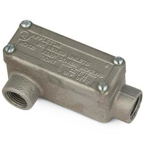 "Appleton ERLR75 Explosionproof Conduit Body, Type: LR, 3/4"", Maleable Iron"