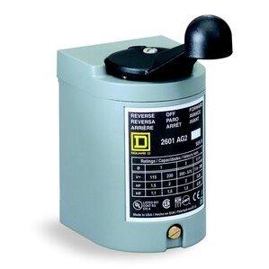 Square D 2601AG2 Manual Starter, Drum Switch, Reversing, 3P, 600VAC, 250VDC, NEMA 1