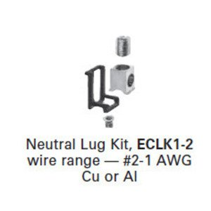 Siemens ECLK1-2 Lug Kit, Neutral, Siemens Load Center, 2AWG-1/0AWG
