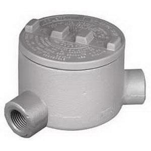 "Appleton GRN50 Conduit Outlet Box, Type GRN, (2) 1/2"" Hubs, Malleable"