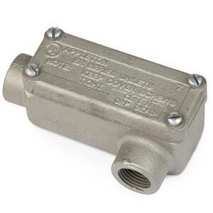 "Appleton ERLL50 Explosionproof Conduit Body, Type: LL, 1/2"", Maleable Iron"