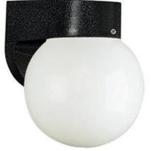 Sea Gull 8753-34 Globe Light, Outdoor, 1-Light, 60W, Black