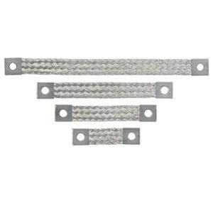 "Panduit BS100845U Bonding Strap, Braided, 1-Hole, Non-Insulated, 8"" L x 1.06"" W"