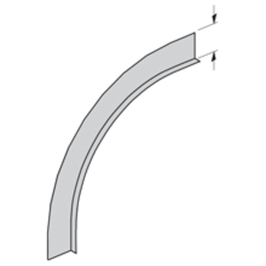 "Cooper B-Line 75A-90VO24 Barrier Vertical Outside 90° Bend, 24"" Radius, 4"" Deep, Aluminum"