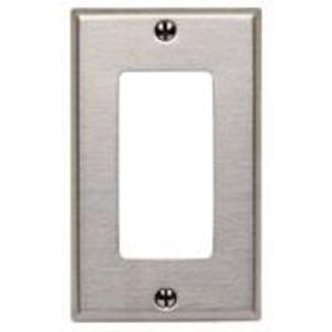 Leviton 84401-40 Decora Wallplate, 1-Gang, Type 302 Stainless Steel