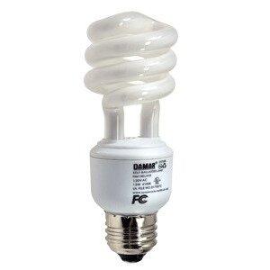 Damar 25508B Compact Fluorescent Lamp, Mini-Spiral, 13W, 4100K