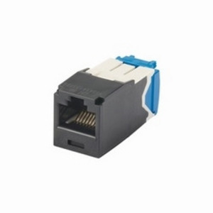 Panduit CJ6X88TGBL Snap In Connector, Mini-Com, TX6A 10Gig UTP, Cat 6, Black
