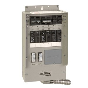 Reliance Controls Q306C 30 Amp 6-Circuit Heavy Duty Transfer Switch
