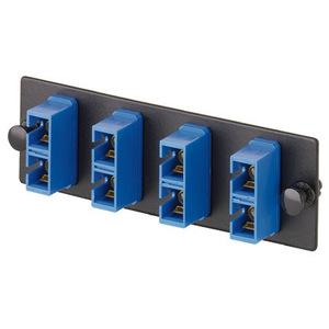 Panduit FAP3WBUDSCZ SC FAP loaded with three SC duplex singlemode fiber optic adapters