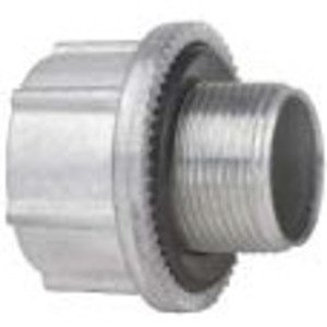 "Cooper Crouse-Hinds STM4 Hub Adapter, Metric to NPT, Size: M40 to 1-1/4"", Zinc"