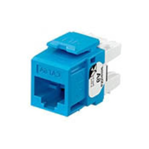 Leviton 6110G-RL6 Snap-In Connector, QuickPort, eXtreme 10G, CAT 6A, Blue