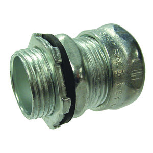 Hubbell-Raco 2908RT EMT Compression Connector, 2 inch, Raintight, Steel