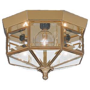 Sea Gull 7661-02 Ceiling Light, 3 Light, 25W, Polished Brass