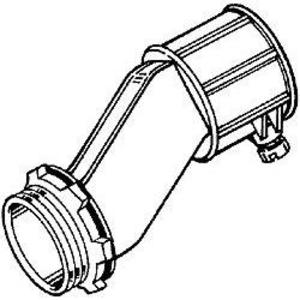 "Hubbell-Raco 1763 EMT Offset Set Screw Connector, 3/4"", Zinc Die Cast"