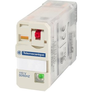 Square D RPM12B7 Relay, Plug-In, 15A, 24VAC Coil, LED, Test Button, Lock-Down Door