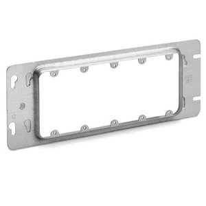 """Steel City 5-GC 4-11/16"""" Gang Box Device Cover, 5-Gang, 15/16"""" Raised, Steel"""