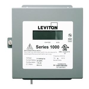 Leviton 1N240-21 200A, 1P, Series 1000, Dual Element Meter