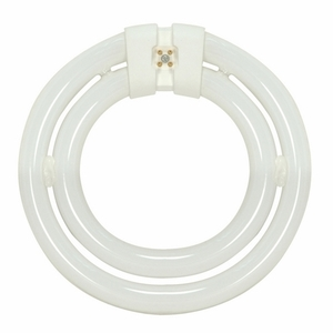 Satco S6596 55 Watt Circline Fluorescent, T6, Warm White, 4-Pin Base