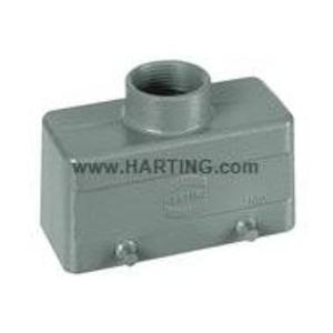 Harting 09300161420 Metal Hood/Housing, Top Entry, Size: 16B, Aluminum/Powder Coated