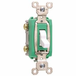 Pass & Seymour PS30AC2-W Toggle Switch, 2-Pole, 30A 120/277VAC, White