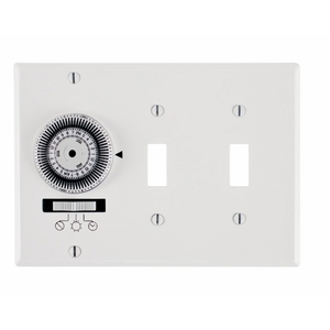 Intermatic KM2ST-3G Heavy-Duty Mechanical In-Wall Timer, 20A