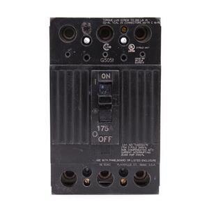 GE THQD32175WL Breaker, 175A, 3P, 240V, Q-Line, 22 kAIC, Lug In/Lug Out, w/Lugs