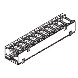 """Chatsworth 30139-719 Horizontal Cable Manager, 2-Sided, 19"""" Wide, 4.96'' High, Black"""